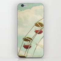 ferris wheel iPhone & iPod Skins featuring ferris wheel by Beverly LeFevre