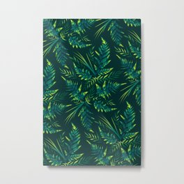 Fern leaves - green Metal Print