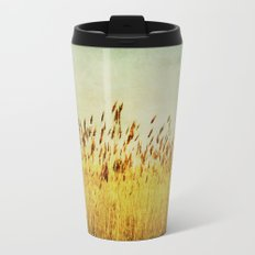 Winter Gold Metal Travel Mug
