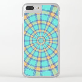 Spiralling Into Plaid Clear iPhone Case