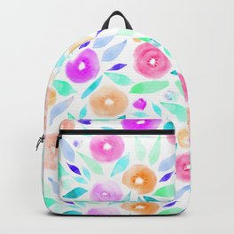 Watercolor Floral Pops Backpack