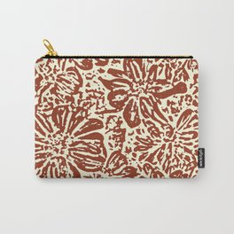 Marigold Lino Cut, Sepia Carry-All Pouch