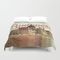 budapest Duvet Covers featuring Budapest by Amigo Vic