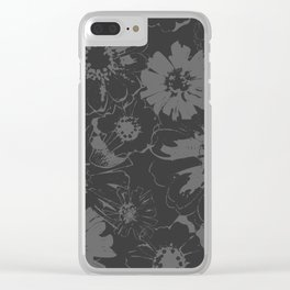 Late Summer Charcoal Clear iPhone Case