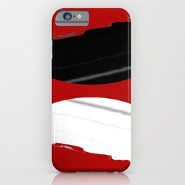 red black white grey abstract digital painting iPhone Case