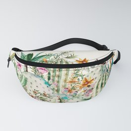 Blooming in the cactus Fanny Pack
