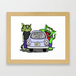 Wash Me Cats Framed Art Print