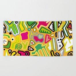 color doodle Beach Towel