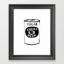 Cheap Beer Framed Art Print