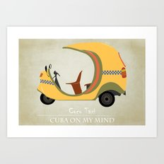 Coco Taxi - Cuba in my mind Art Print