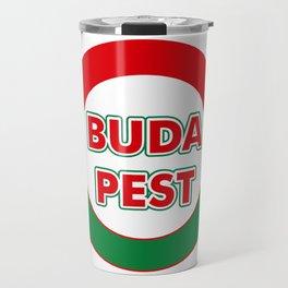 Budapest, circle, color Travel Mug