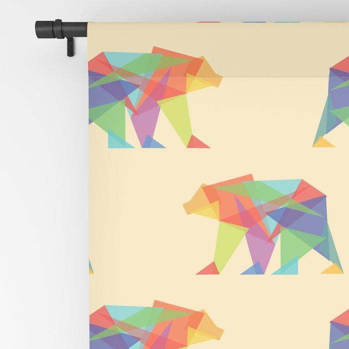 Fractal Geometric bear Blackout Curtain