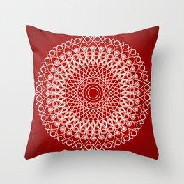 Christmas mandala Throw Pillow