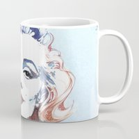 marilyn Mugs featuring Marilyn by Susana Miranda ilustración