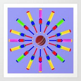 Sport Of Cricket Design version 2 Art Print
