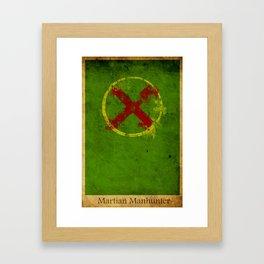 Martian Logo Framed Art Print