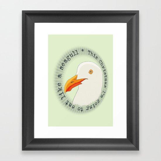 Eat like a seagull  Framed Art Print