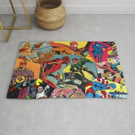 Comic Book Collage Rug