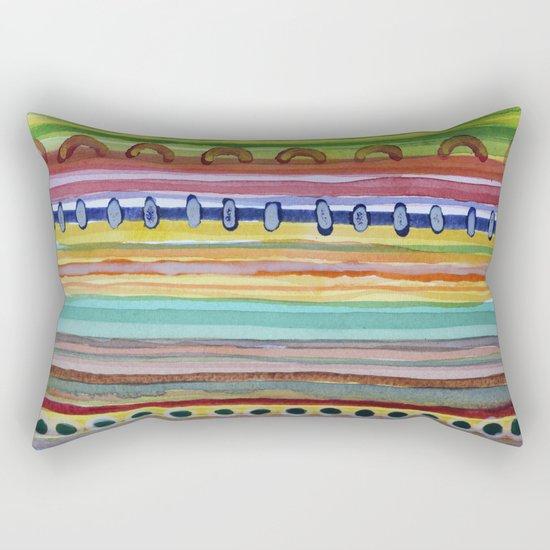 Striped Curtain Rectangular Pillow