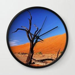 Dead Vlei Namibia VIII Wall Clock