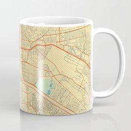 El Paso Map Retro Coffee Mug