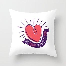 My Heart Belongs to God Throw Pillow