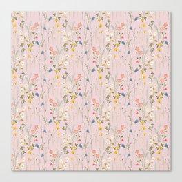 Dreamy Floral Pattern Canvas Print