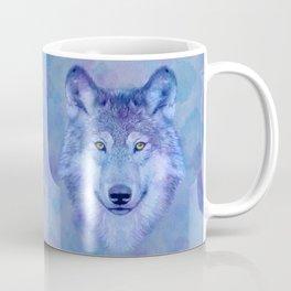 Sky blue wolf with Golden eyes Coffee Mug