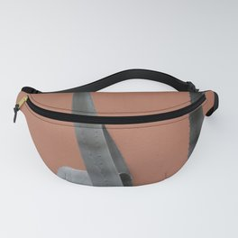 Cactus green on coral II - Terracotta botanical photography Fanny Pack