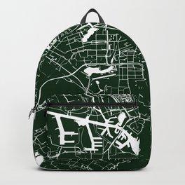 Amsterdam Green on White Street Map Backpack