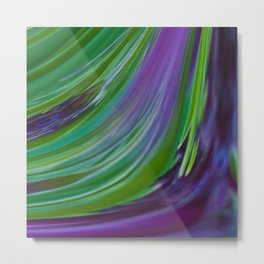Purple Green Contemporary Abstract Metal Print
