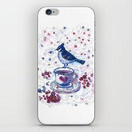 Winter Tea (Ble Jay) iPhone Skin