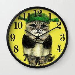 Shreky Cat Wall Clock