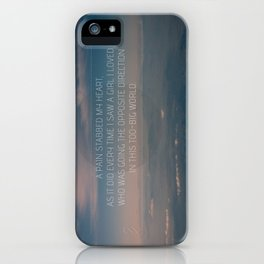 The Opposite Direction iPhone Case