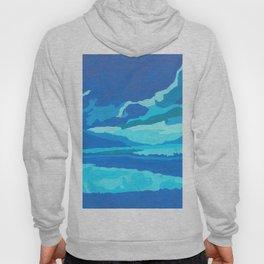 paisaje azul Hoody
