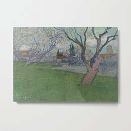 Orchards in Blossom, View of Arles Metal Print