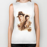 mad men Biker Tanks featuring MAD MEN DON DRAPER by TOXIC RETRO