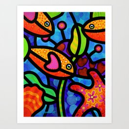 Kaleidoscope Reef Art Print