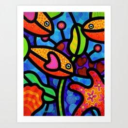 Kaleidoscope Reef Art Print
