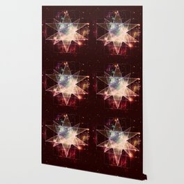 Galaxy Sacred Geometry : Stellated Icoshadron Warmth Wallpaper