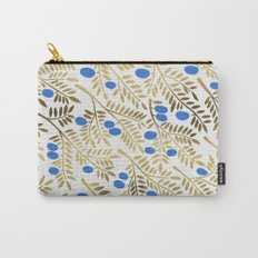 Olive Branches – Gold & Blue Carry-All Pouch
