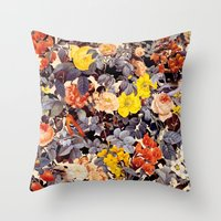 floral pattern Throw Pillows featuring Floral Pattern by Burcu Korkmazyurek