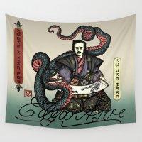 poe Wall Tapestries featuring Samurai Poe by QStar