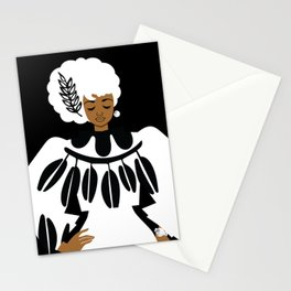 Lady in White Stationery Cards