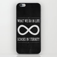 gladiator iPhone & iPod Skins featuring What We Do In Life Echoes In Eternity Gladiator Russel Crowe by CCL Works