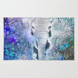 ELEPHANT IN THE STARRY LAKE Rug