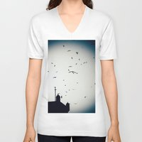 morocco V-neck T-shirts featuring Morocco Rampart by Petrichor Photo