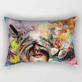 She lived with her head in the clouds... Rectangular Pillow
