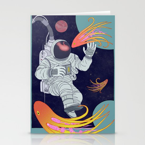 Cosmonaut Stationery Cards