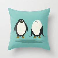suit Throw Pillows featuring bathing suit by gotoup